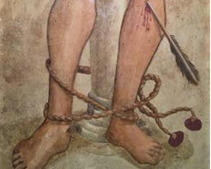 San Sebastiano: Realizzazione di un dipinto su intonaco d'ispirazione umbra