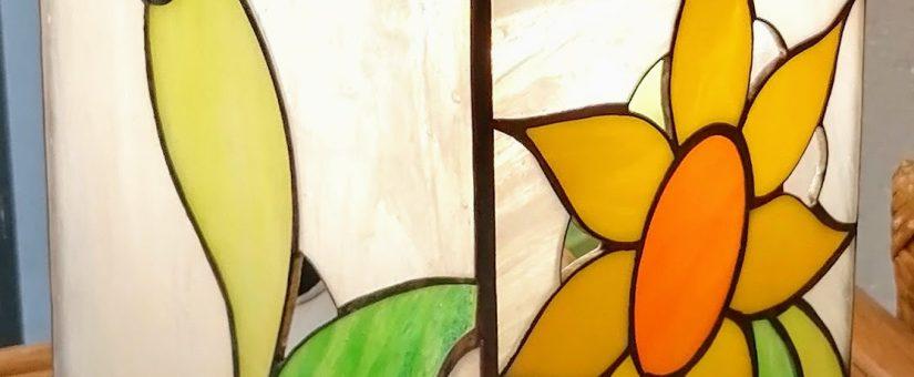 Realizzazione di una lampada di vetro artistico con la tecnica Tiffany