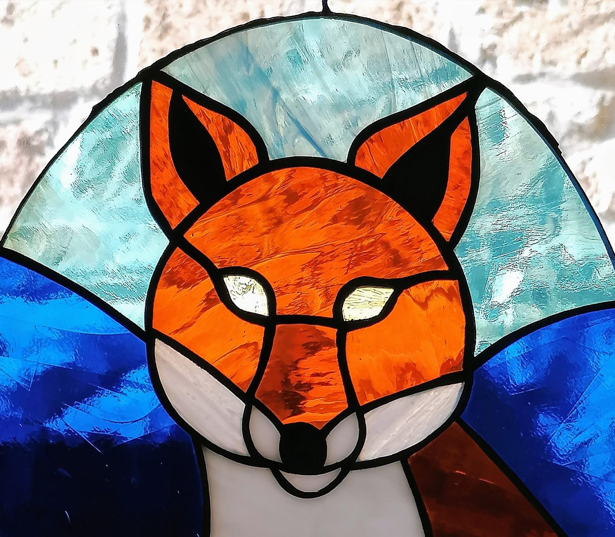 Vetrata volpe rossa, particolare
