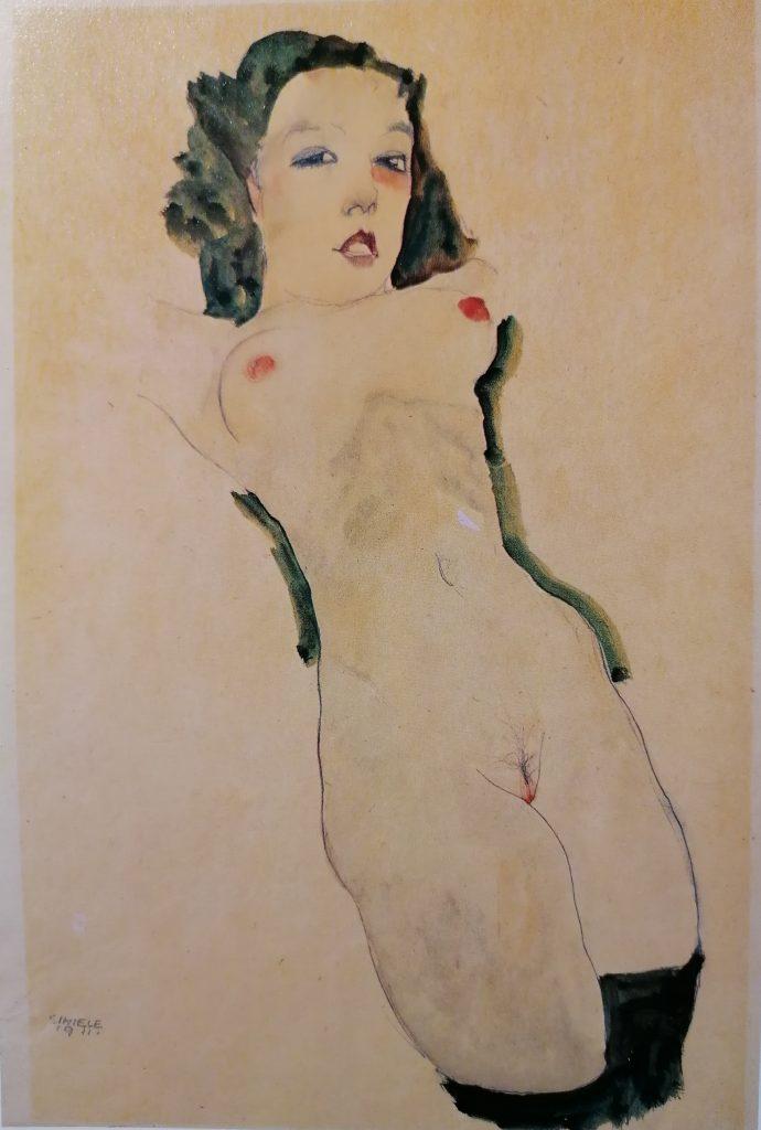 E.Schiele, Nudo sdraiato, 1911