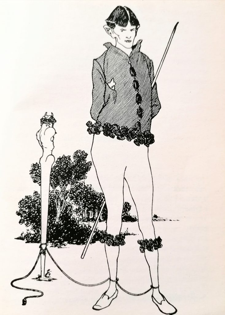 Aubrey Beardsley, autoritratto con Priapo