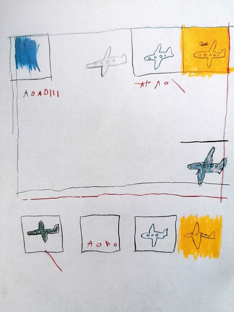 Basquiat, Airplanes,1981