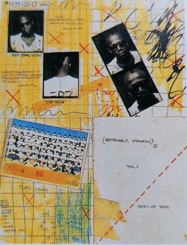 Basquiat, Senza titolo. Postcard, 1979